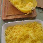 Spaghetti Squash, cooked and prepared
