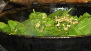 Sauteed Garlicky Spinach