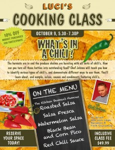 Chili Cooking Class