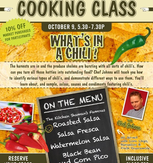 October Cooking Class: What's in A Chili?