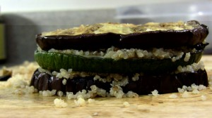 Eggplant and Zucchini with Quinoa and Peppers