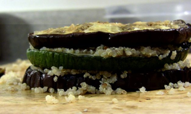 Play with Your Food: Eggplant & Zucchini Towers