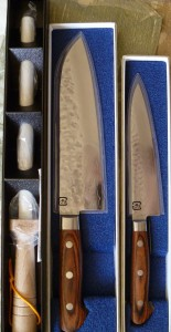 Ohishi Knives with Ceramic steel