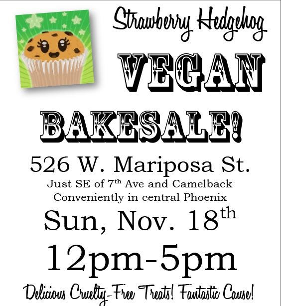 Vegan Bake Sale, Again!