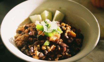 Very Vegan Black Bean and Tempeh Chili