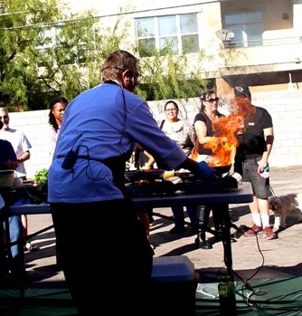 Food Demo in Phoenix by the Kitchen Shaman