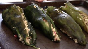 Quinoa Stuffed Chilies