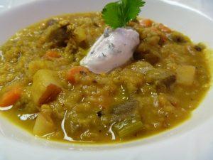 lentil eggplant soup