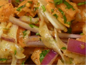 Sweet potato and fennel salad
