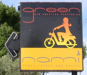 The sign for Green and Nami in Phoenix, AZ.