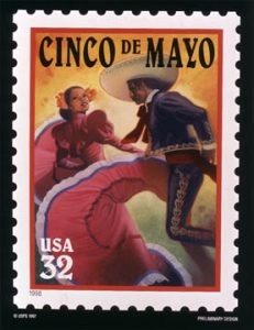 US Postage stamp Cinco de Mayo