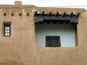 Adobe structure in Santa Fe, New Mexico