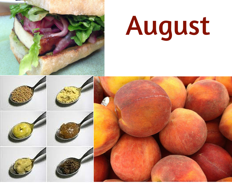 Food Holidays in August 2015