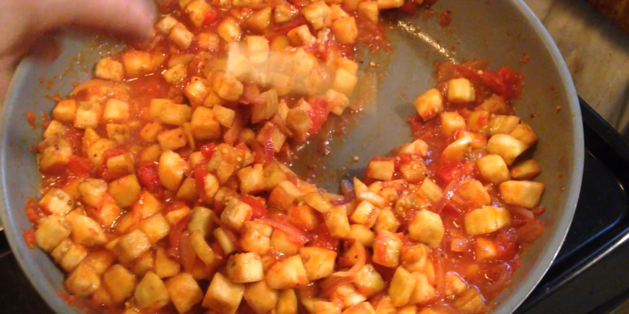 Cooking Vegan for Lent: Eggplant Stew