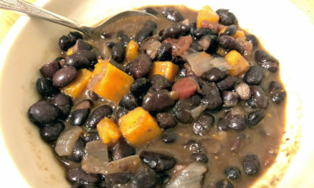 Soup Warms the Soul: Black Bean Stew